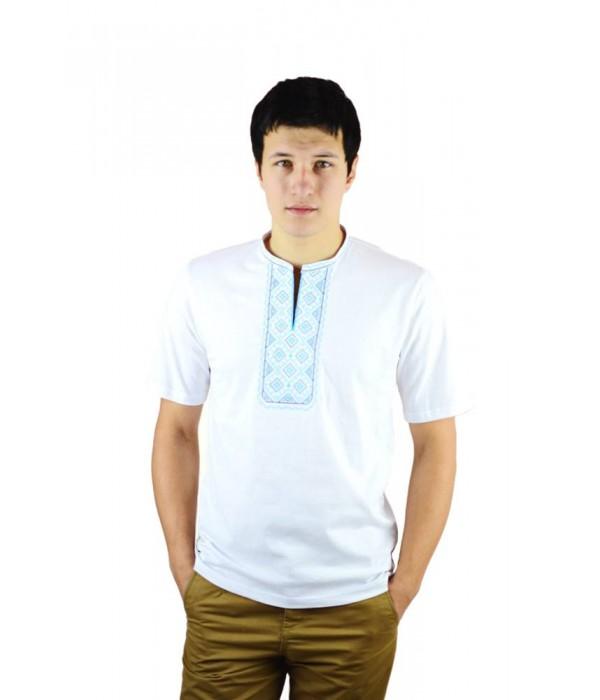Вишита футболка хрестиком «Поло» М-612-13, Вишита футболка хрестиком «Поло» М-612-13 купити