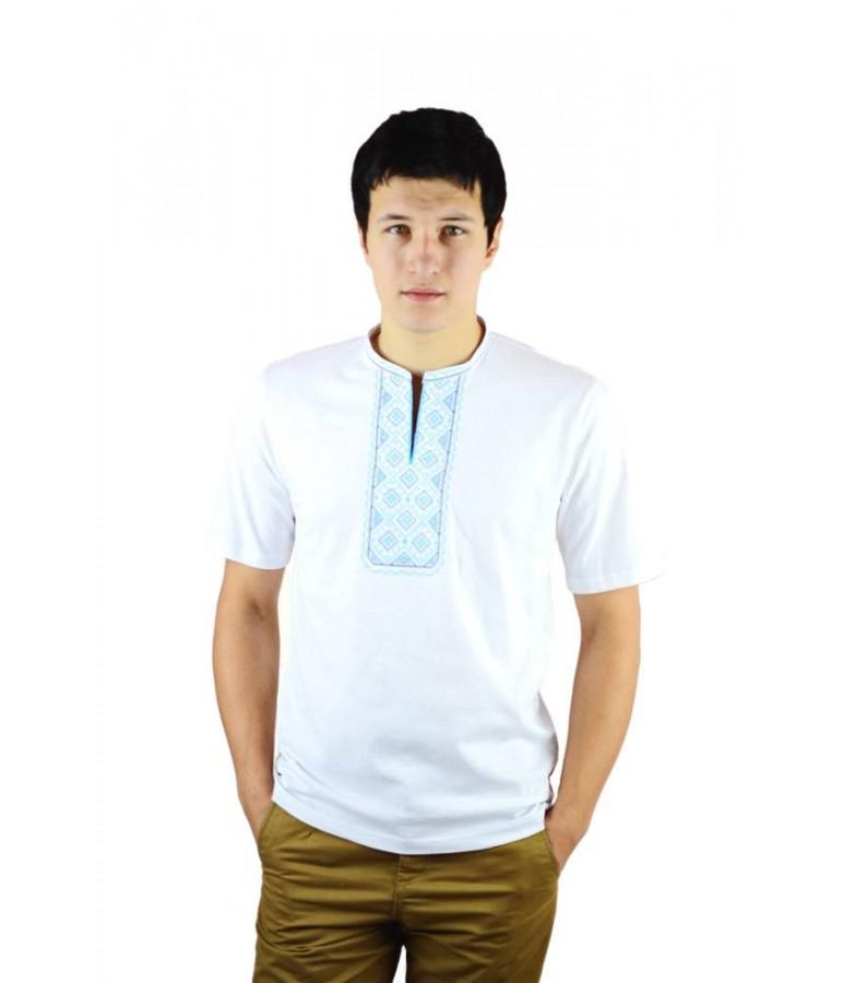 Вишита футболка хрестиком «Поло» М-612-13 купити у Львові fe4346dc72802