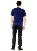Вышитая футболка крестиком «Ромбы» М-614-16