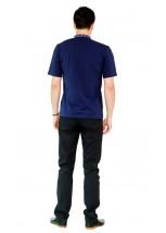 Вышитая футболка крестиком «Ромбы» М-614-17