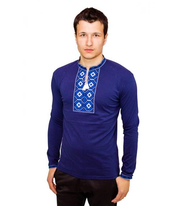 Вышитая футболка крестиком «Ромбы» М-614-7, Вышитая футболка крестиком «Ромбы» М-614-7 купити