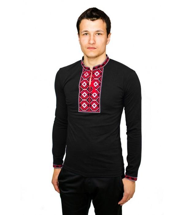 Вышитая футболка М-614-97 Черная, Вышитая футболка М-614-97 Черная купити