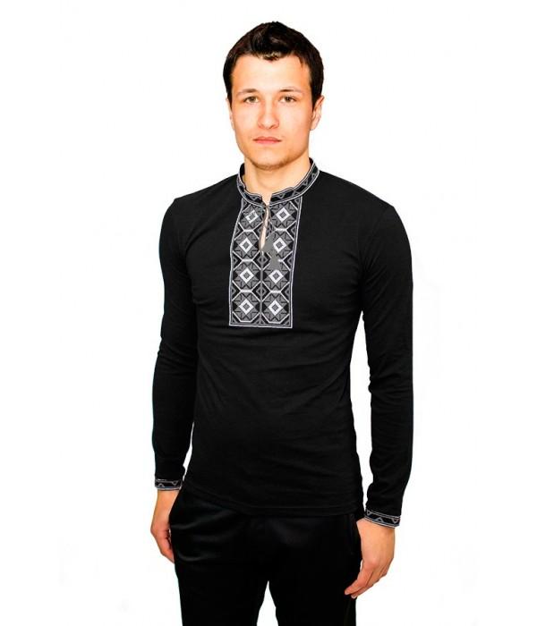 Вышитая футболка М-614-96 Черная, Вышитая футболка М-614-96 Черная купити