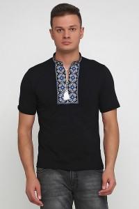 Вышитая футболка крестиком «Ромбы» М-614-22