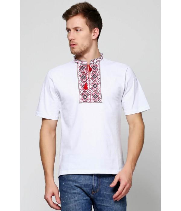 Вышитая футболка крестиком «Ромбы» М-614, Вышитая футболка крестиком «Ромбы» М-614 купити