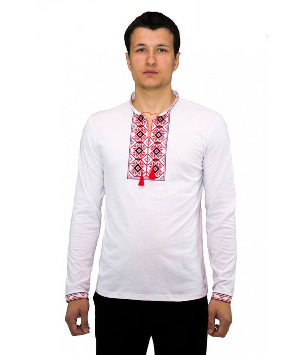 Вышитая футболка крестиком «Ромбы» М-614-11, Вышитая футболка крестиком «Ромбы» М-614-11 купити