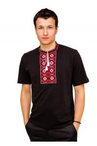 Вышитая футболка крестиком «Ромбы» М-614-14