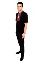 Вишита футболка хрестиком «Ромби» М-614-14