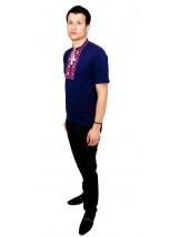 Вишита футболка хрестиком «Ромби» М-614-15