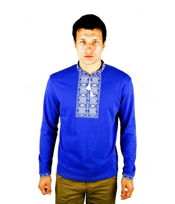 Вышитая футболка крестиком «Ромбы» М-614-10, Вышитая футболка крестиком «Ромбы» М-614-10 купити