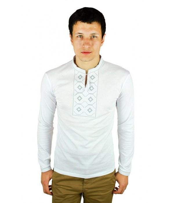 Вышитая футболка крестиком «Ромбы» М-614-19, Вышитая футболка крестиком «Ромбы» М-614-19 купити