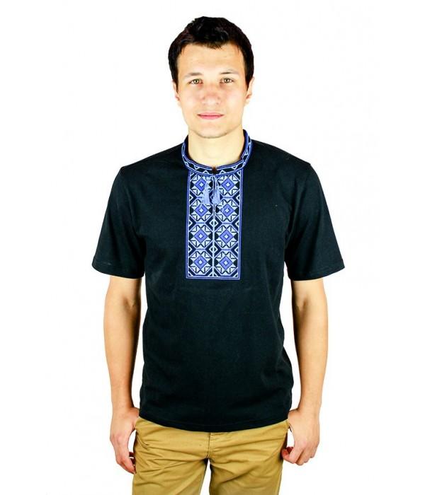 Вышитая футболка крестиком «Ромбы» М-614-18, Вышитая футболка крестиком «Ромбы» М-614-18 купити