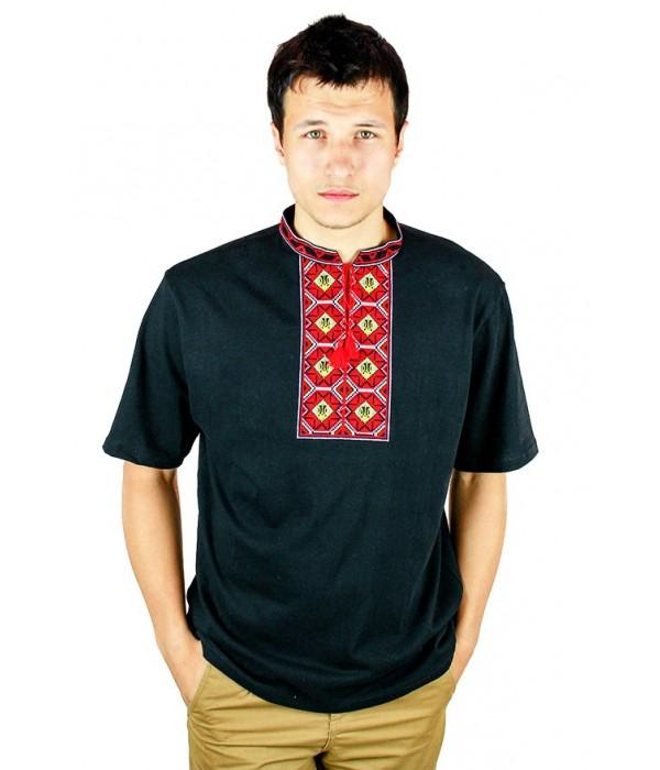 Вишита футболка хрестиком «Ромби» М-614-21, Вишита футболка хрестиком «Ромби» М-614-21 купити