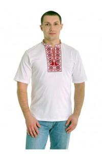 Вишита футболка хрестиком «Ромби» М-614
