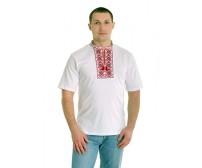 Вышитая футболка крестиком «Ромбы» М-614