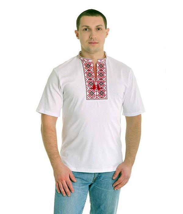 Вишита футболка хрестиком «Ромби» М-614, Вишита футболка хрестиком «Ромби» М-614 купити