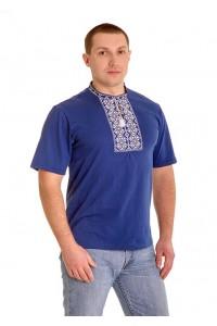 Вишита футболка хрестиком «Ромби» М-614-3