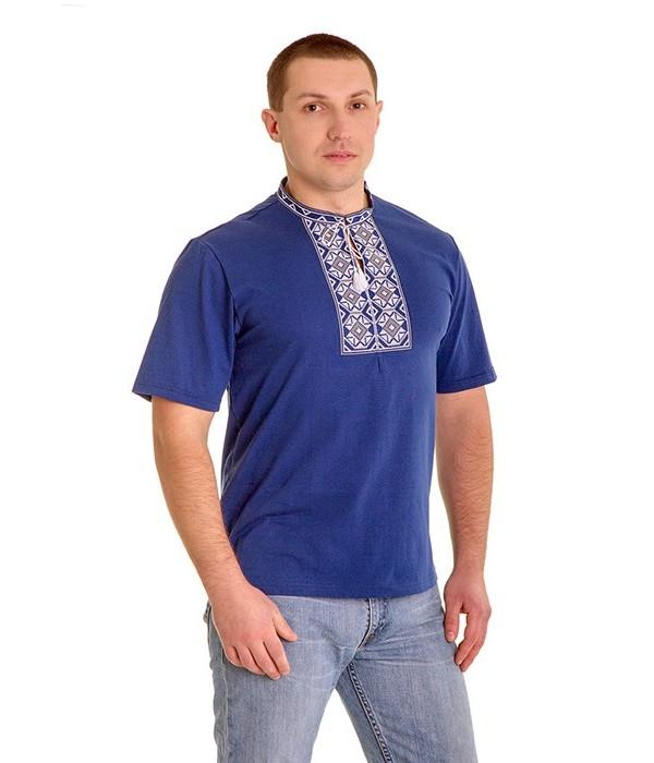 Вишита футболка хрестиком «Ромби» М-614-3, Вишита футболка хрестиком «Ромби» М-614-3 купити