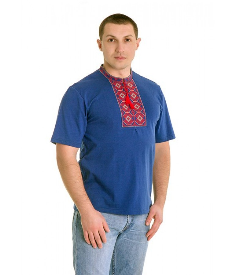 Вишита футболка хрестиком «Ромби» М-614-4 купити у Львові 45a1ef107b9ea