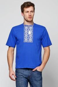 Вышитая футболка крестиком «Ромбы» М-614-3