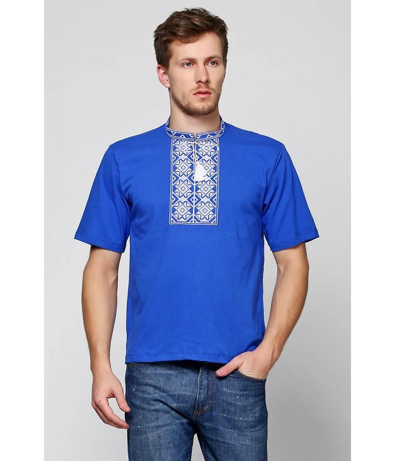 Вишита футболка хрестиком «Ромби» М-614-3 купити у Львові 8a2c83536059f