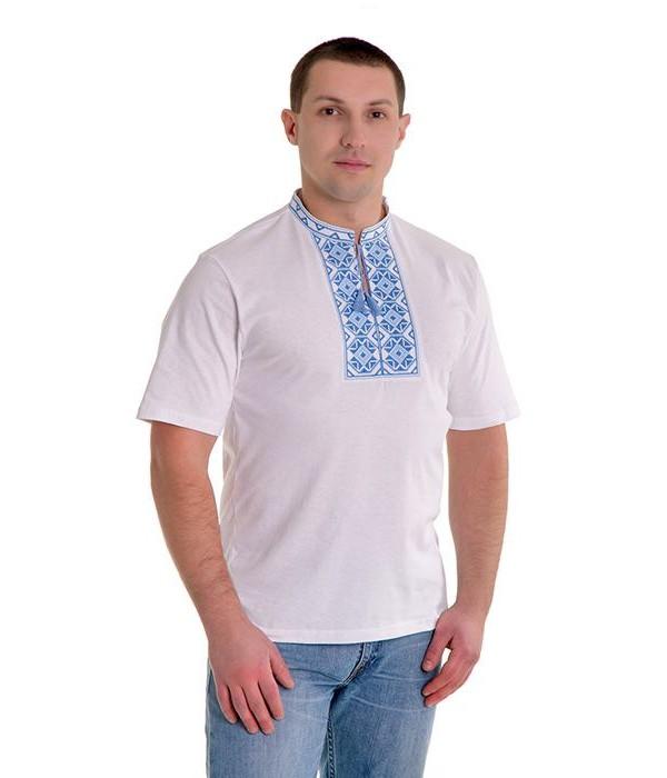 Вишита футболка хрестиком «Ромби» М-614-2, Вишита футболка хрестиком «Ромби» М-614-2 купити
