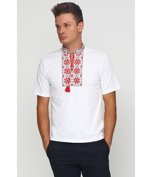 Вишита футболка гладдю «Сніжинка» М-616-1, Вишита футболка гладдю «Сніжинка» М-616-1 купити
