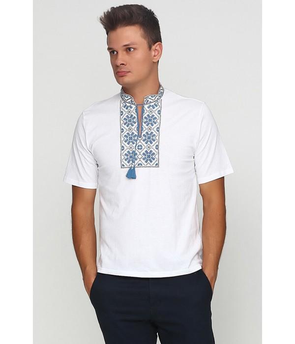 Вышитая футболка гладью «Снежинка» М-616, Вышитая футболка гладью «Снежинка» М-616 купити