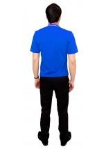 Вышитая футболка гладью «Снежинка» М-616-12