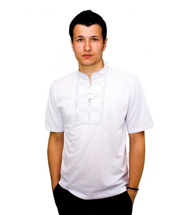 Вишита футболка гладдю «Сніжинка» М-616-2, Вишита футболка гладдю «Сніжинка» М-616-2 купити
