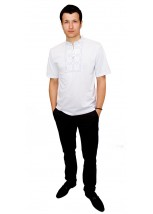Вишита футболка гладдю «Сніжинка» М-616-2