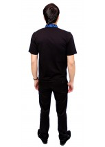 Вышитая футболка гладью «Снежинка» М-616-10