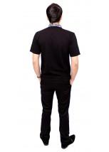 Вышитая футболка гладью «Снежинка» М-616-11
