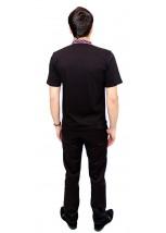 Вышитая футболка гладью «Снежинка» М-616-4