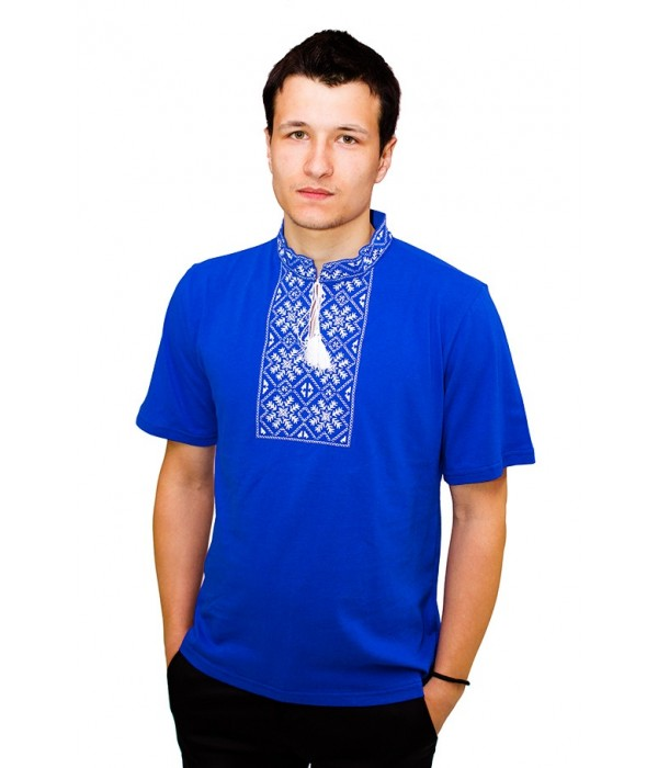 Вишита футболка гладдю «Сніжинка» М-616-9, Вишита футболка гладдю «Сніжинка» М-616-9 купити