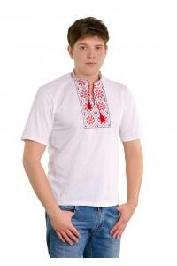 Вишита футболка гладдю «Сніжинка» М-616-1
