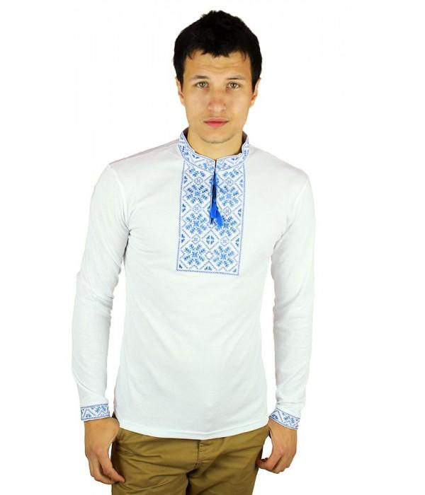 Вышитая футболка гладью «Снежинка» М-616-8, Вышитая футболка гладью «Снежинка» М-616-8 купити