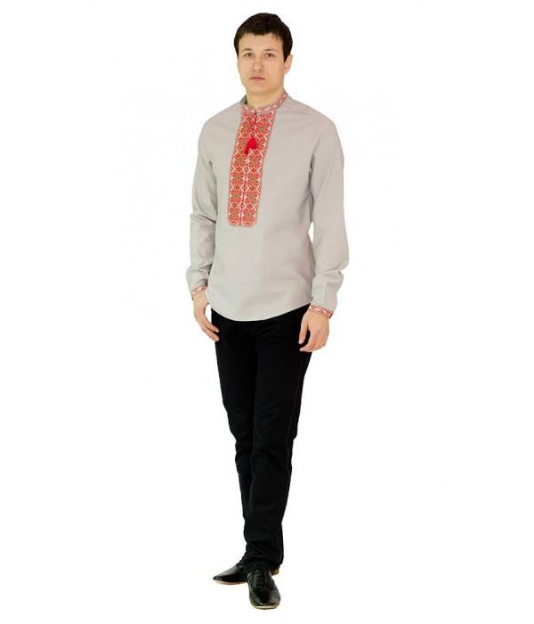 Рубашка вышитая мужская 100 % Лен  М-406-6, Рубашка вышитая мужская 100 % Лен  М-406-6 купити