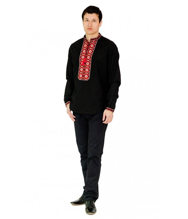 Рубашка вышитая мужская 100 % Лен  М-406-7, Рубашка вышитая мужская 100 % Лен  М-406-7 купити