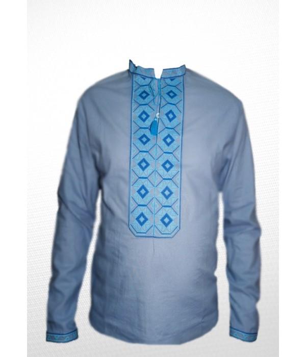Сорочка вишита чоловіча 100% Льон М-406, Сорочка вишита чоловіча 100% Льон М-406 купити