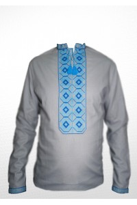 Рубашка вышитая мужская 100% Лен М-406-5