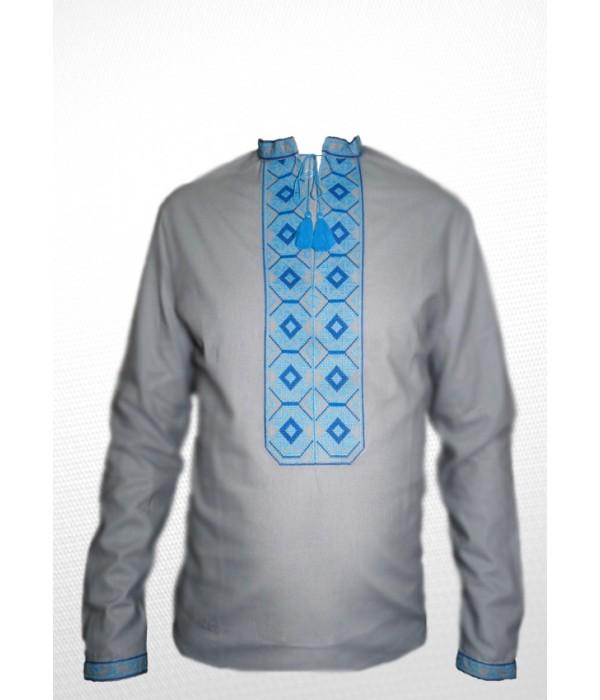 Рубашка вышитая мужская 100% Лен М-406-5, Рубашка вышитая мужская 100% Лен М-406-5 купити