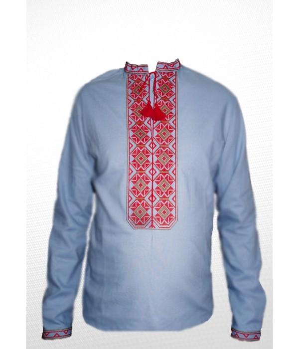 Сорочка вишита чоловіча 100% Льон М-406-3, Сорочка вишита чоловіча 100% Льон М-406-3 купити