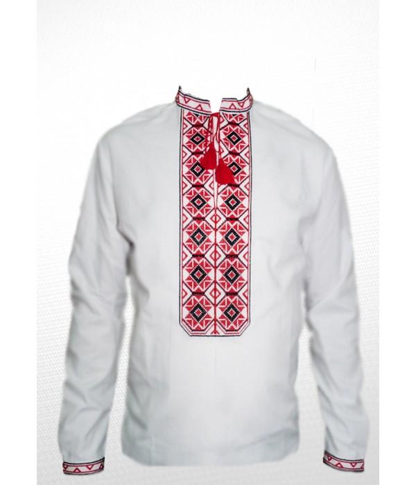 Рубашка вышитая мужская 100% Лен М-406-1, Рубашка вышитая мужская 100% Лен М-406-1 купити