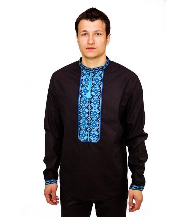 Рубашка вышитая мужская 100 % Лен  М-406-8, Рубашка вышитая мужская 100 % Лен  М-406-8 купити