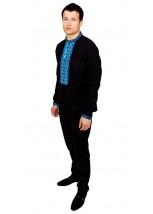 Рубашка вышитая мужская 100 % Лен  М-406-8