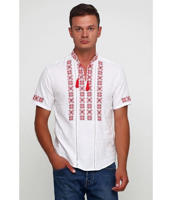 Рубашка вышитая крестиком и украшенная мережкой  М-403-13, Рубашка вышитая крестиком и украшенная мережкой  М-403-13 купити