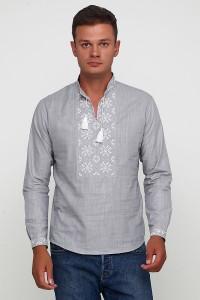 Рубашка вышитая гладью «Снежинка»  М-412-10