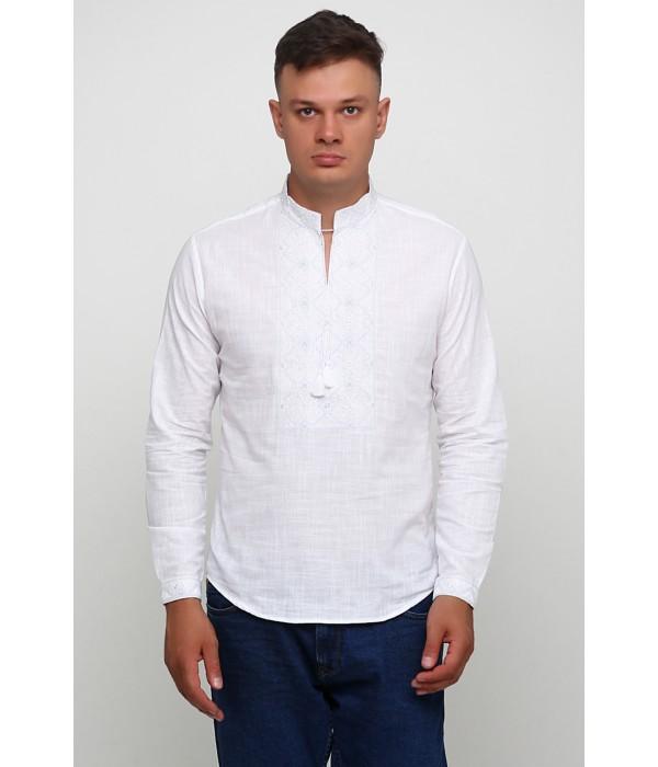 Рубашка вышитая гладью «Снежинка» М-412-2, Рубашка вышитая гладью «Снежинка» М-412-2 купити