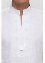 Рубашка вышитая гладью «Снежинка» М-412-2